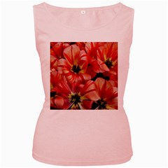 Tulips Flowers Spring Women s Pink Tank Top