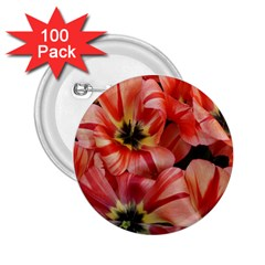 Tulips Flowers Spring 2 25  Buttons (100 Pack)  by BangZart