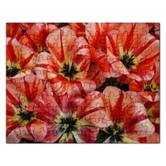 Tulips Flowers Spring Rectangular Jigsaw Puzzl by BangZart