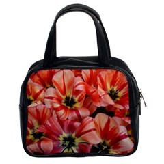 Tulips Flowers Spring Classic Handbags (2 Sides) by BangZart
