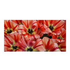 Tulips Flowers Spring Satin Wrap