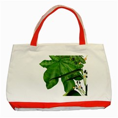 Plant Berry Leaves Green Flower Classic Tote Bag (red) by BangZart
