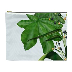 Plant Berry Leaves Green Flower Cosmetic Bag (xl) by BangZart