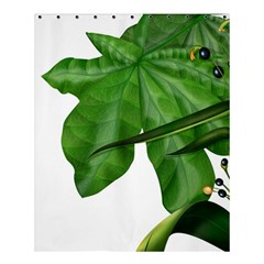 Plant Berry Leaves Green Flower Shower Curtain 60  X 72  (medium)