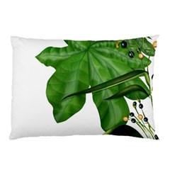 Plant Berry Leaves Green Flower Pillow Case (two Sides) by BangZart