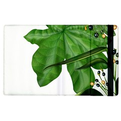 Plant Berry Leaves Green Flower Apple Ipad 2 Flip Case by BangZart