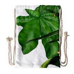 Plant Berry Leaves Green Flower Drawstring Bag (large) by BangZart