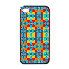 Pop Art Abstract Design Pattern Apple Iphone 4 Case (black)