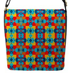Pop Art Abstract Design Pattern Flap Messenger Bag (s)