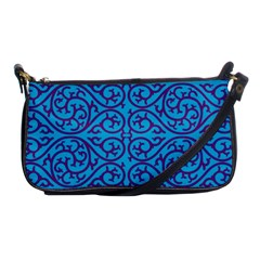 Monogram Blue Purple Background Shoulder Clutch Bags