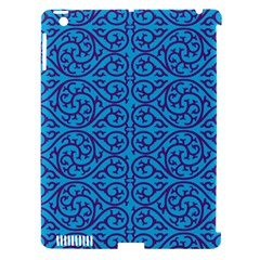 Monogram Blue Purple Background Apple Ipad 3/4 Hardshell Case (compatible With Smart Cover) by BangZart