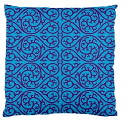 Monogram Blue Purple Background Standard Flano Cushion Case (one Side) by BangZart