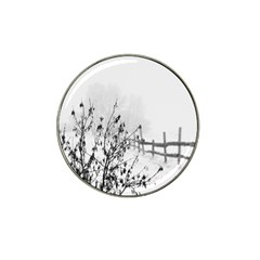 Snow Winter Cold Landscape Fence Hat Clip Ball Marker