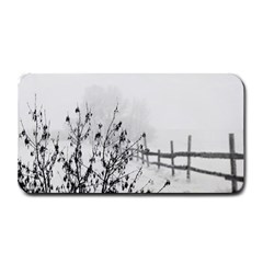 Snow Winter Cold Landscape Fence Medium Bar Mats by BangZart