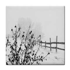 Snow Winter Cold Landscape Fence Face Towel by BangZart