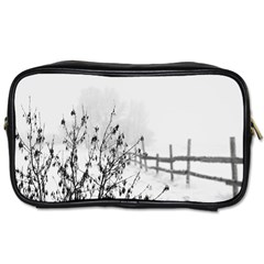 Snow Winter Cold Landscape Fence Toiletries Bags 2 Side