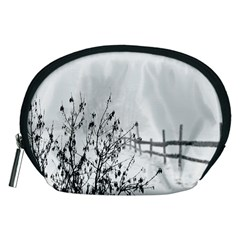 Snow Winter Cold Landscape Fence Accessory Pouches (medium)