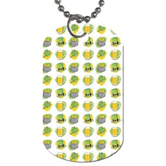 St Patrick S Day Background Symbols Dog Tag (one Side) by BangZart
