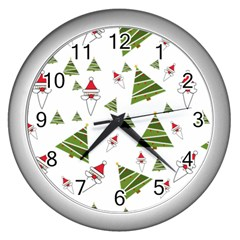 Christmas Santa Claus Decoration Wall Clocks (silver)  by BangZart