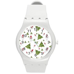 Christmas Santa Claus Decoration Round Plastic Sport Watch (m) by BangZart