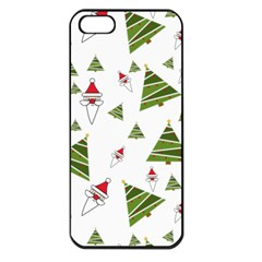 Christmas Santa Claus Decoration Apple Iphone 5 Seamless Case (black)