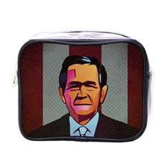 George W Bush Pop Art President Usa Mini Toiletries Bags by BangZart