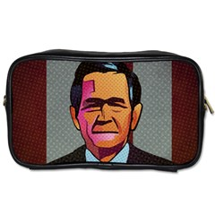 George W Bush Pop Art President Usa Toiletries Bags 2 Side