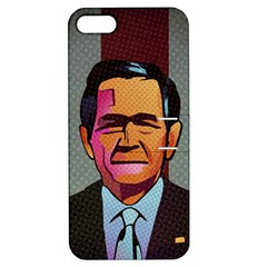 George W Bush Pop Art President Usa Apple Iphone 5 Hardshell Case With Stand