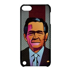 George W Bush Pop Art President Usa Apple Ipod Touch 5 Hardshell Case With Stand by BangZart