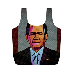 George W Bush Pop Art President Usa Full Print Recycle Bags (m)  by BangZart