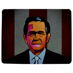 George W Bush Pop Art President Usa Jigsaw Puzzle Photo Stand (rectangular)