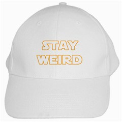 Stay Weird White Cap