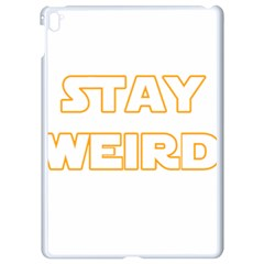 Stay Weird Apple Ipad Pro 9 7   White Seamless Case by Valentinaart