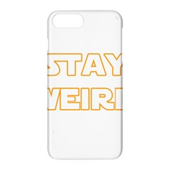 Stay Weird Apple Iphone 8 Plus Hardshell Case by Valentinaart