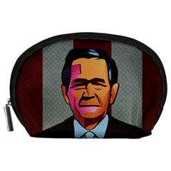 George W Bush Pop Art President Usa Accessory Pouches (large)