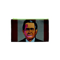 George W Bush Pop Art President Usa Cosmetic Bag (xs)