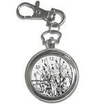 Snow Winter Cold Landscape Fence Key Chain Watches Front