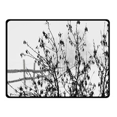 Snow Winter Cold Landscape Fence Fleece Blanket (small) by BangZart
