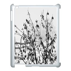 Snow Winter Cold Landscape Fence Apple Ipad 3/4 Case (white) by BangZart