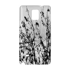 Snow Winter Cold Landscape Fence Samsung Galaxy Note 4 Hardshell Case by BangZart