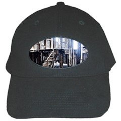 House Old Shed Decay Manufacture Black Cap by BangZart