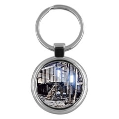 House Old Shed Decay Manufacture Key Chains (round)