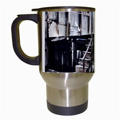 House Old Shed Decay Manufacture Travel Mugs (white) by BangZart