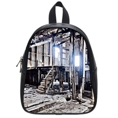House Old Shed Decay Manufacture School Bag (small) by BangZart