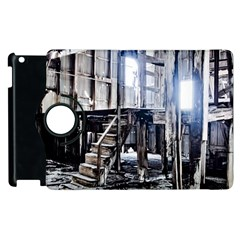 House Old Shed Decay Manufacture Apple Ipad 3/4 Flip 360 Case