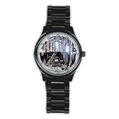 House Old Shed Decay Manufacture Stainless Steel Round Watch