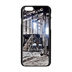 House Old Shed Decay Manufacture Apple Iphone 6/6s Black Enamel Case