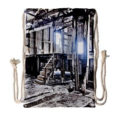 House Old Shed Decay Manufacture Drawstring Bag (large)