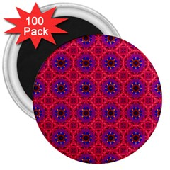 Retro Abstract Boho Unique 3  Magnets (100 Pack)