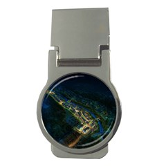 Commercial Street Night View Money Clips (round)